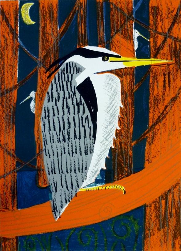 Night Herons Screen print