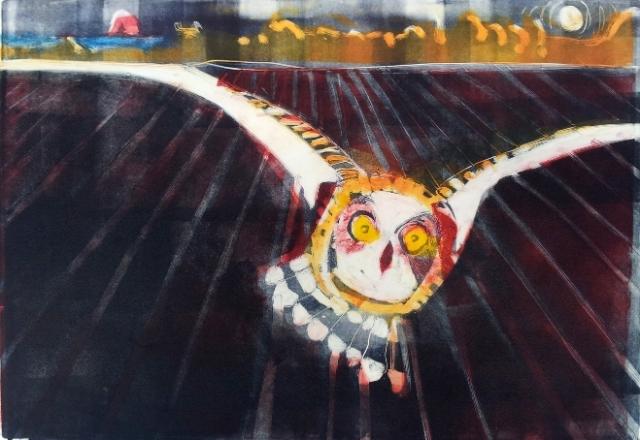 short eared owl mono small