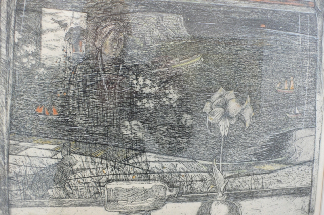 Sylvia Wishart, etching