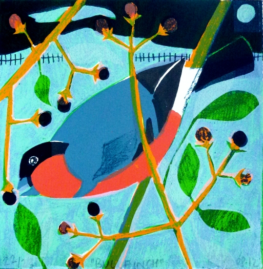 winter bullfinch web