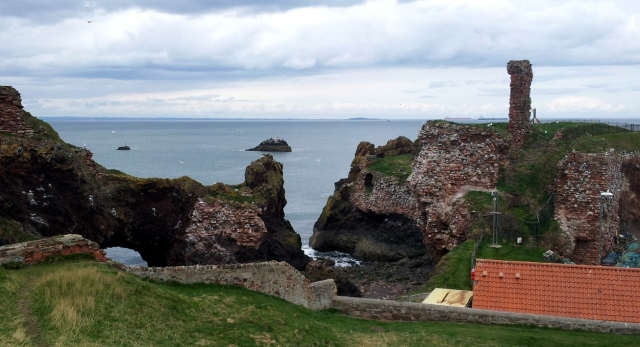 Photograph of Dunbar looking across the Forth
